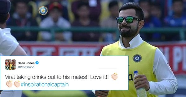 9770c98d57c An Injured Kohli Carrying Drinks Proves He s A Captain Who s There For The  Team Even When He s Not