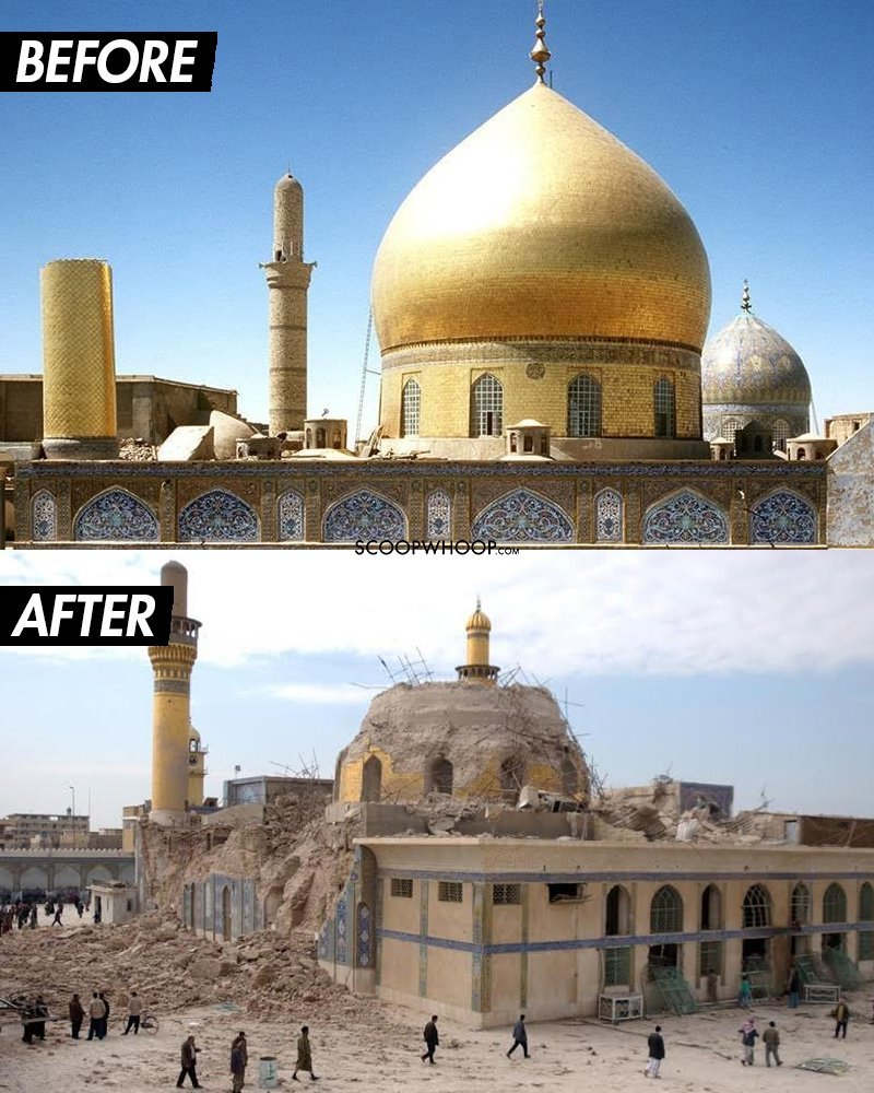 15 Before After Photographs Of Historical Sites Destroyed By War