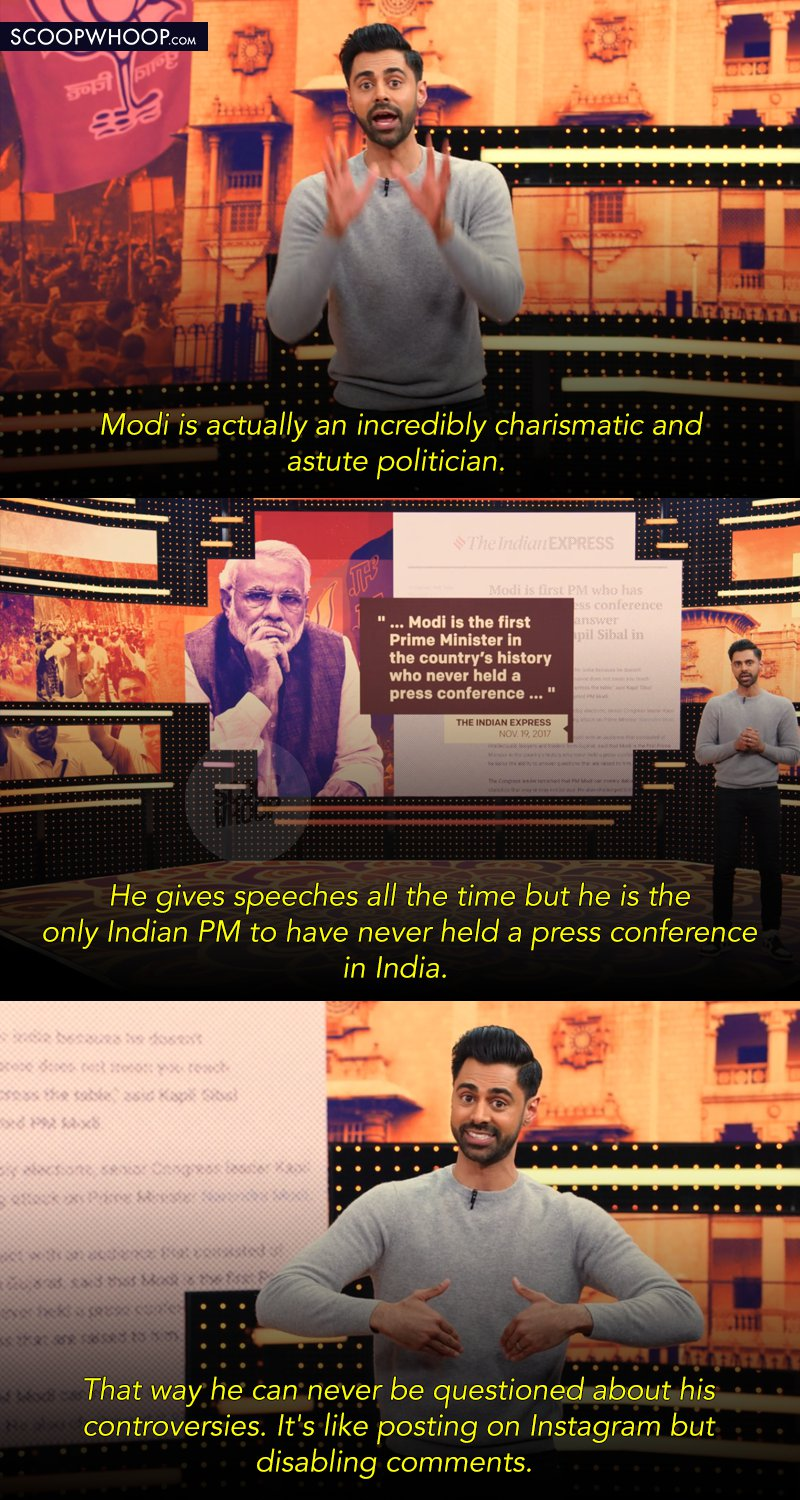 Hasan Minhaj Boldly Takes On Modi, The 2019 Elections