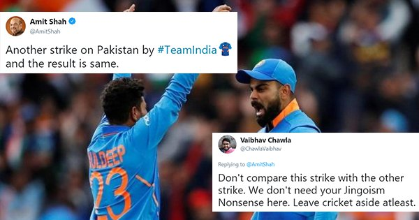 Amit Shah Calls India Win Against Pak 'Another Strike'. Twitter Asks Him To Leave Cricket Alone