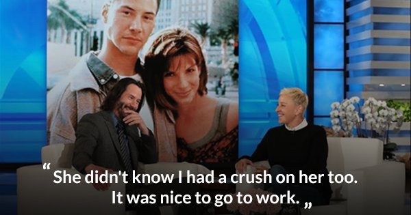 This Video Of Keanu Reeves Admitting That He Too Had A Crush On Sandra Bullock Is All Kinds Of Cute