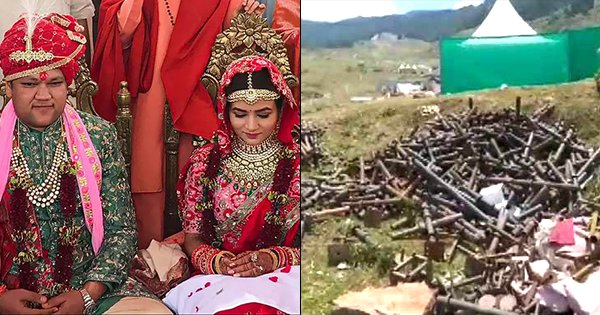 This 200-Crore Wedding In Auli Left Behind 4000 Kg Trash, Turning The Hill Station Into A Dumpyard