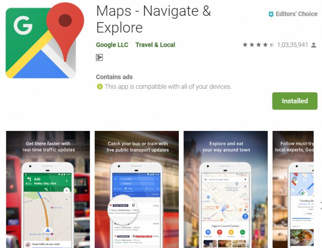 Google Maps Roll Out 'Stay Safer' Feature For Android Phone ... on download bing maps, download business maps, download london tube map, online maps, download icons, topographic maps,