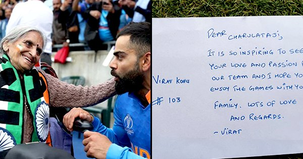 Virat Kohli Sends Sweet Message Along With Tickets For 87-Year-Old Super Fan Charulata Patel
