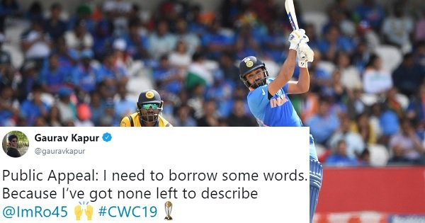 Rohit Sharma Has the Most Centuries In A Single World Cup. All We Can Do Is Bow Down Before Him