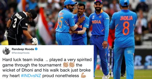 'We're Proud Of You': Here's How Celebrities Reacted To India's Heartbreaking Loss To NZ Last Night
