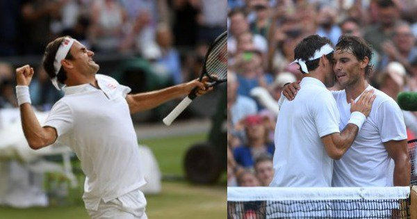 What A Match: Twitter Hails Epic Battle As Federer Beats Nadal In A Thrilling Wimbledon Semi-Final
