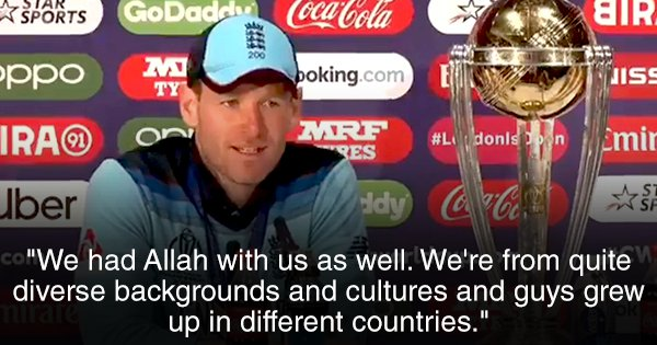 Allah Was With Us: Eoin Morgan Pays Tribute To The Diversity Of England's World Cup Winning Squad