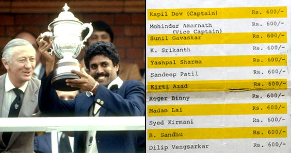We Never Realised How Long Ago '83 Was Until We Saw Indian Cricket Team's Pay Slip From That Time