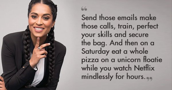 This Lilly Singh Post Is For Everyone Who Feels Guilty For Having Fun & Not Working 'Hard Enough'