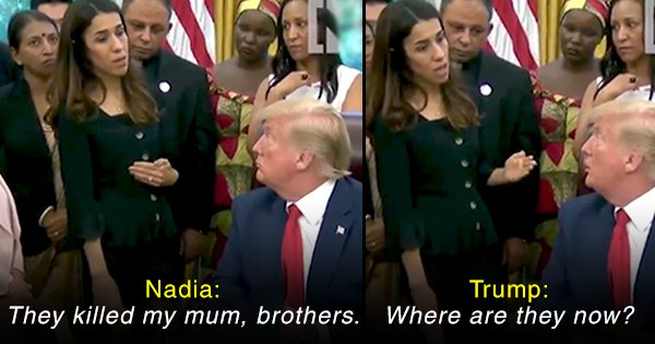 This Video of Donald Trump Talking To Nobel Peace Prize Winner Nadia Murad Is All Sorts Of Cringe