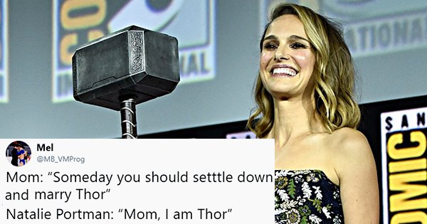 Twitter Welcomes Natalie Portman As Mighty Thor With Love And Thunder