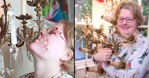 35-Year-Old UK Woman Found A 91-Year-Old Antique Chandelier Online & Is Now All Set To Marry It