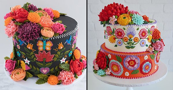 These Embroidery Cakes Look Too Gorgeous To Be Eaten But My Mouth Can't Stop Watering