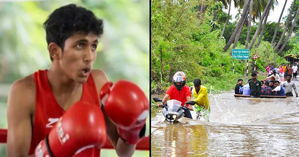 This Young Boxer Swam 2.5 KMs In Flood Water To Take Part In A Local Tournament, Won Silver