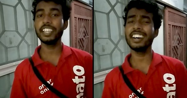 This Delivery Boy Singing 'Gori Tera Gaon Bada Pyara' Has The Internet Mesmerised