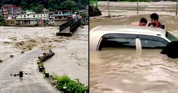 Heavy Rainfall In Himachal Pradesh Cause Landslides & Flash Floods, Major Highways Blocked