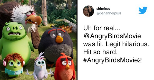 15 Tweets To Read Before Watching Angry Birds Movie 2