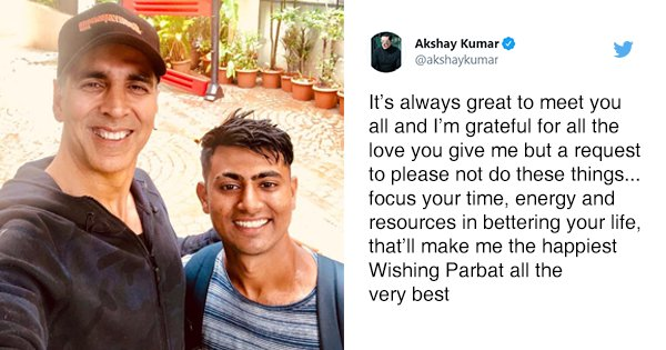 Akshay Kumar's Advice To Fan Who Walked 900 Km For 18 Days To Meet Him Is Why He's Our Khiladi