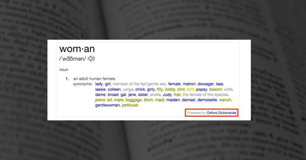 30,000 People Sign Petition To Change Sexist Definition of A 'Woman' In Oxford Dictionary