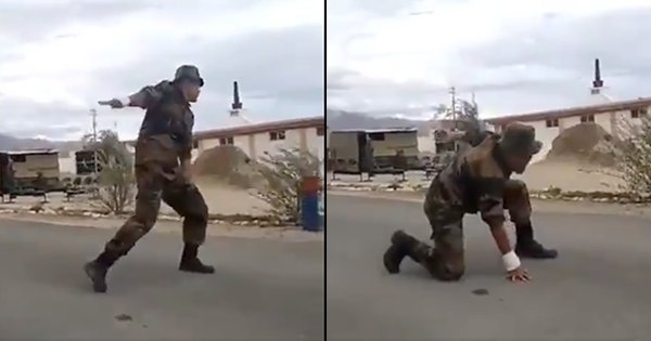 The Internet Is Loving This Viral Video Of A Soldier Break Dancing To Hip-Hop Music In Kargil