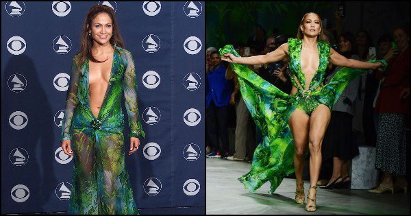 JLo Recreates Her Iconic Versace Green Dress From 2000 Breaking The Internet Yet Again