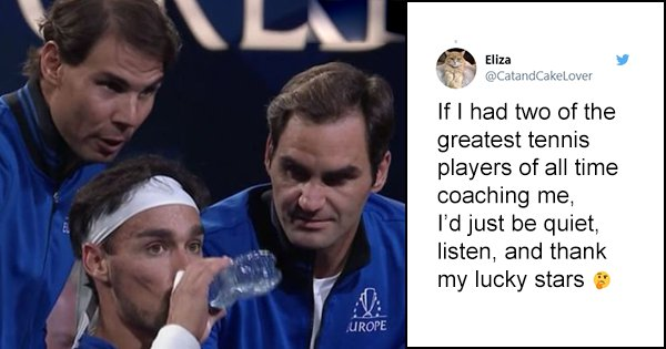 Twitter Hails #Fedal As The Ultimate Coaching Duo After The Legends Coach Fellow Teammate