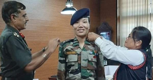 Ponung Doming Creates History, Becomes First Woman Lieutenant Colonel From Arunachal