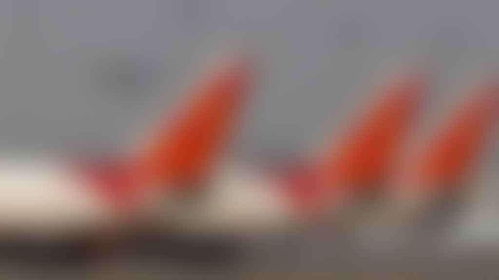 Tails of 3 Air India aircrafts.
