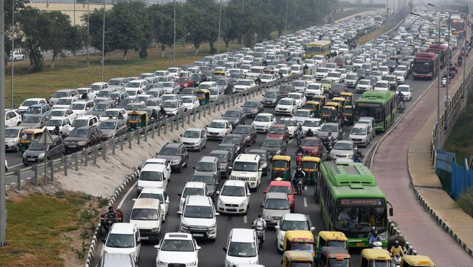 Image result for traffic in delhi