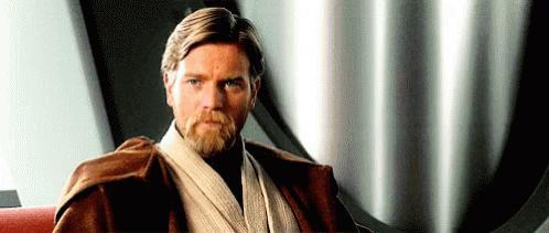 Obi Wan kenobi Disapproving look gif
