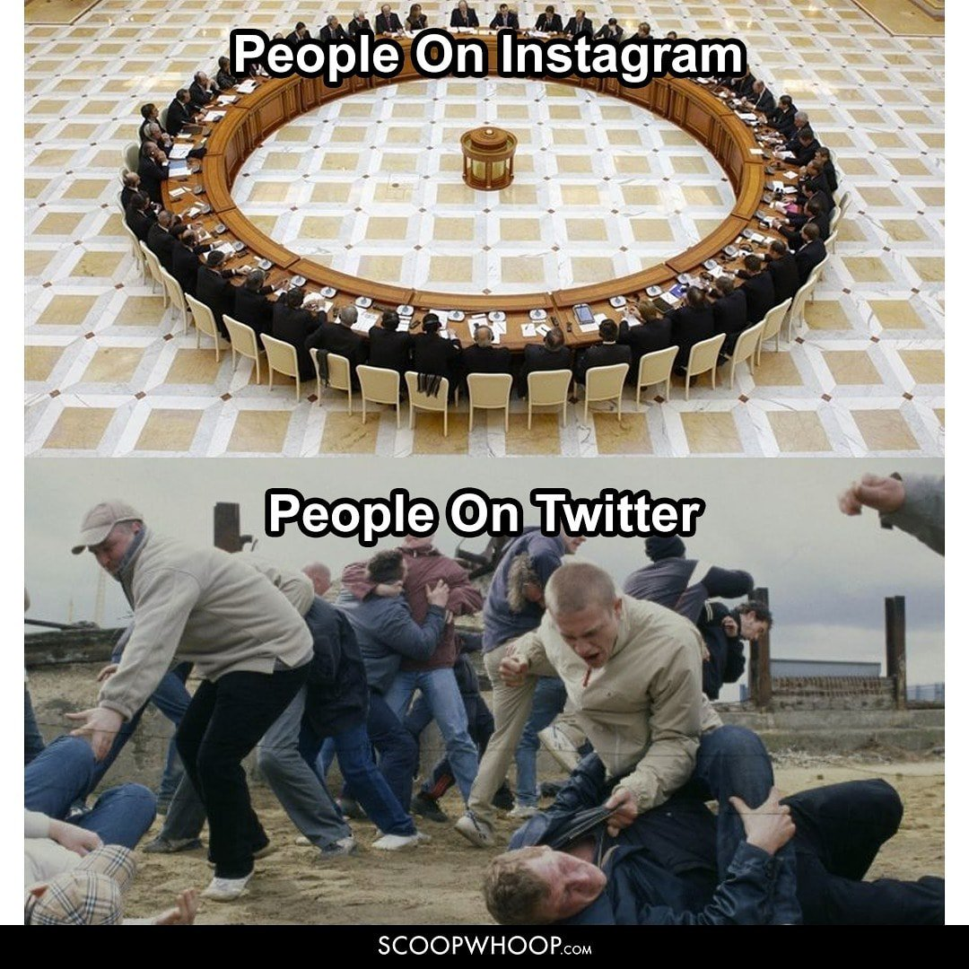 People on various social platforms