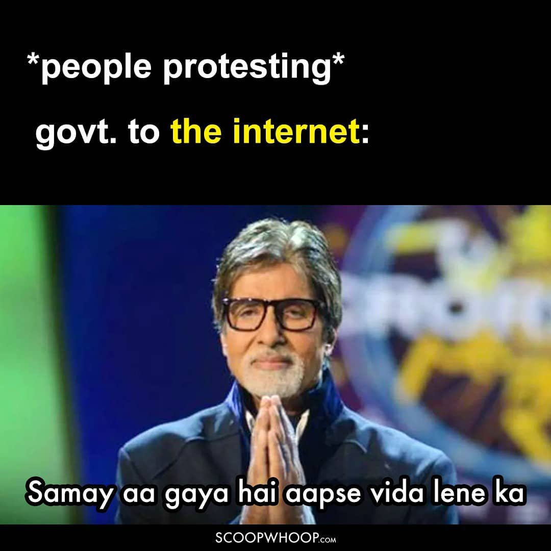 Internet services during a protest