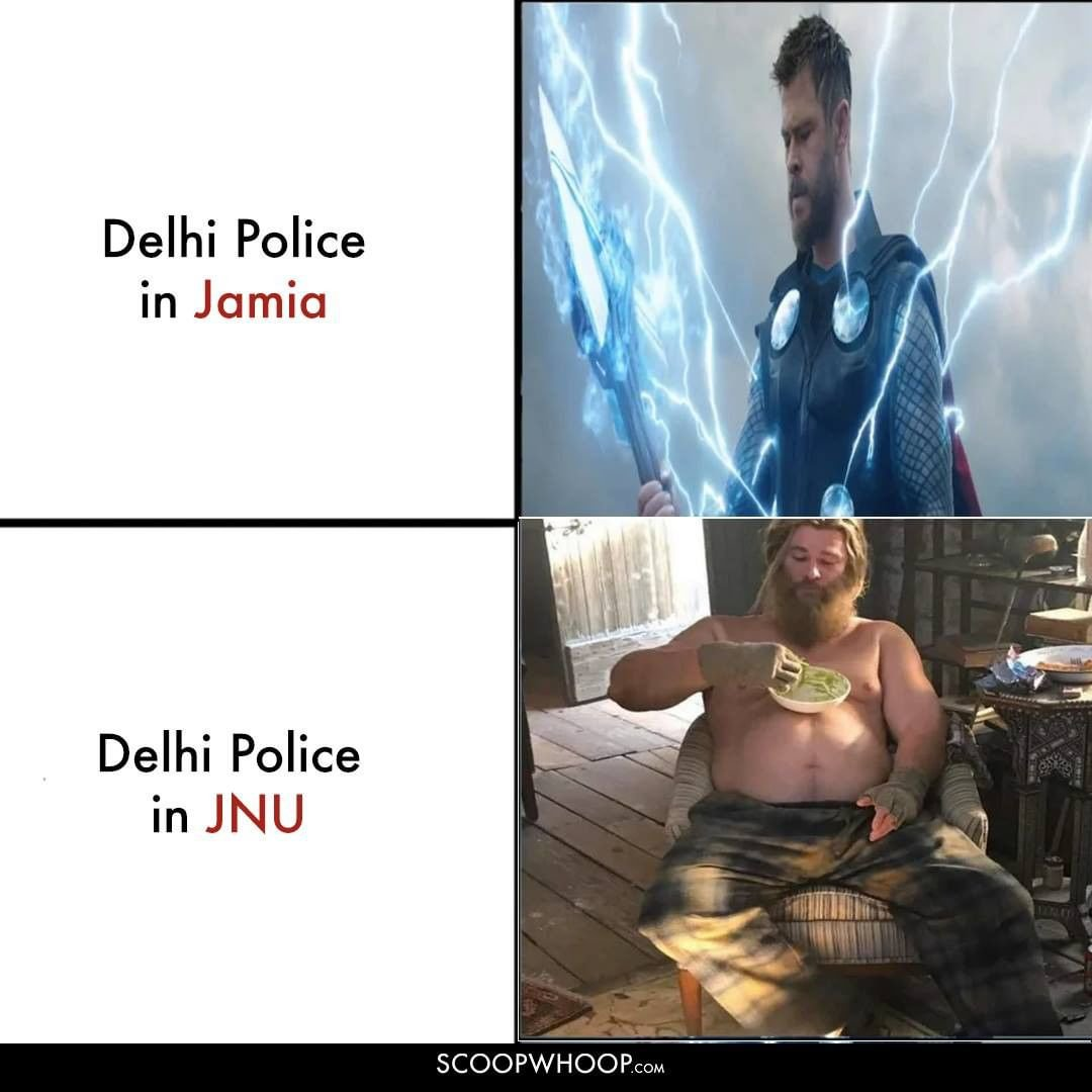Delhi Police in Jamia and JNU