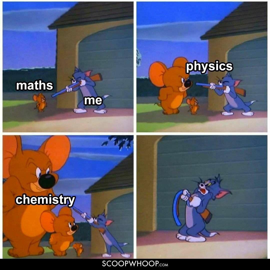 Physics - Chemistry meme