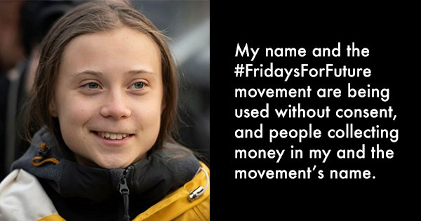 Greta Thunberg Files For Trademark On Her Name and Movement 'Fridays For Future'
