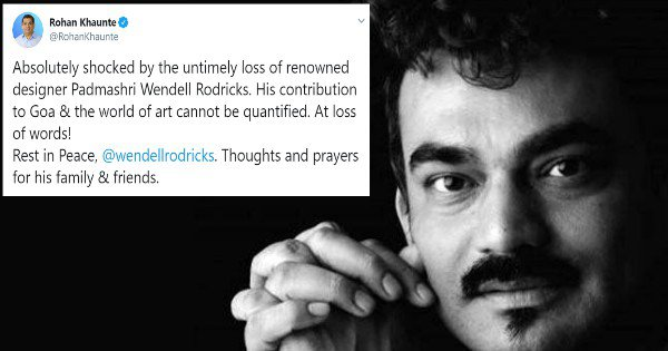 Twitter Pays Tribute To Visionary Designer Wendell Rodricks After His Sudden Demise