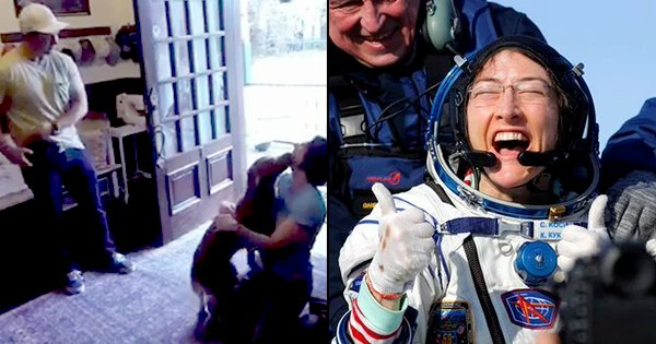 This Video Of NASA Astronaut Christina Koch's Reunion With Her Doggo After 328 Days Is Pure Love
