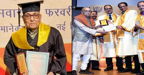 93-Year-Old Becomes The Oldest Post-Graduate At IGNOU Convocation, Proving Age Is Just A Number