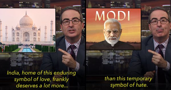 Comedian John Oliver Tears Into Modi and The NRC/CAA In The Latest Episode Of Last Week Tonight