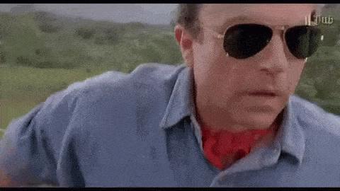 Jurassic park surprised gif