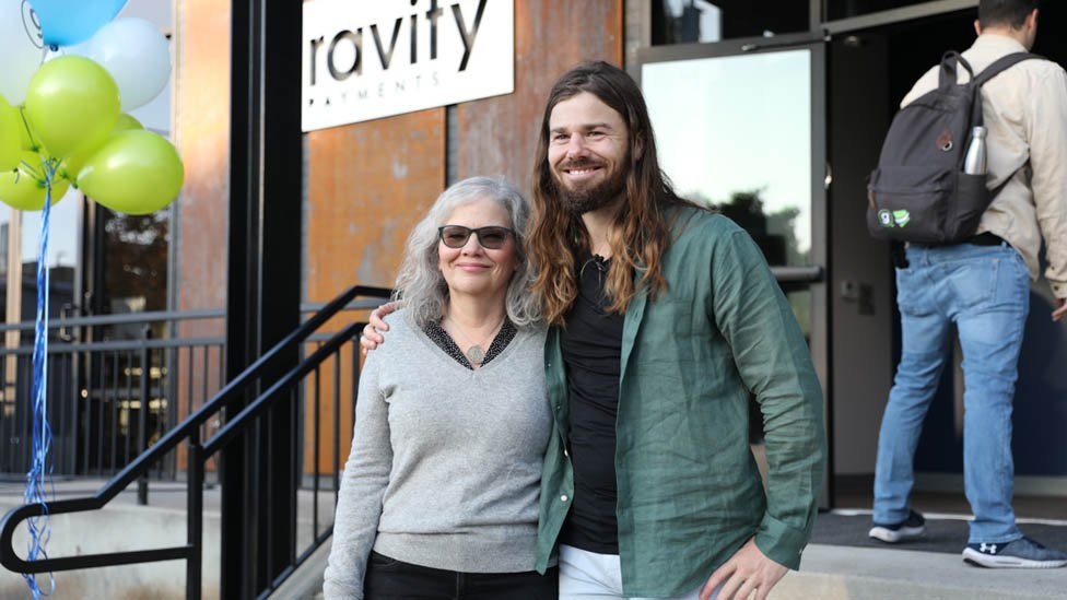 Dan Price with his mother