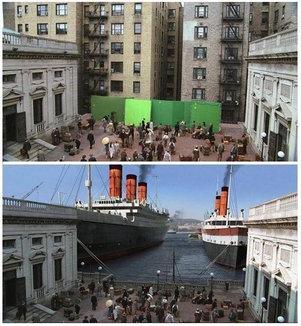 29 Before And After Pictures Of Movie Scenes That Show The