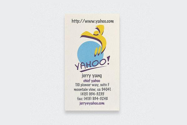 Check out these actual business cards of the worlds most famous people 4 jerry yang colourmoves