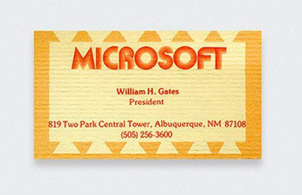 Check out these actual business cards of the worlds most famous people 8 bill gates colourmoves
