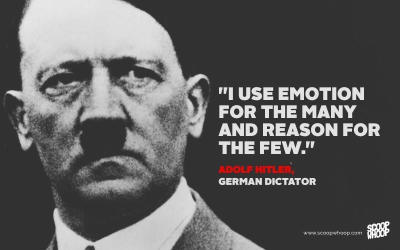 Famous Quotes Custom 15 Surprisingly Sensible Quotes From Famous Dictators And Evil Leaders