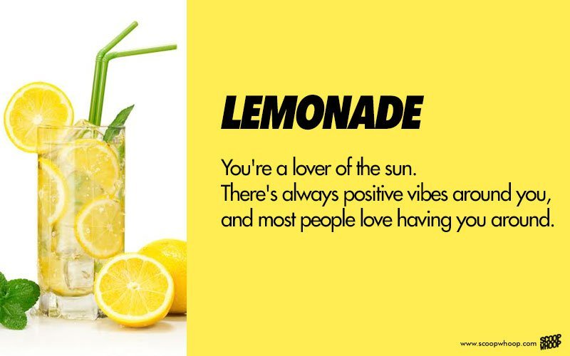 Hereu0027s What Your Favourite Drink Says About Your Personality (or Lack  Thereof)!