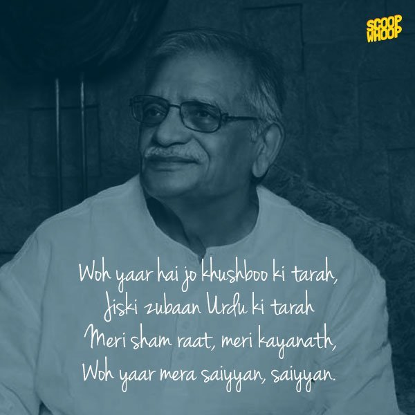 18 Soul Stirring Lyrical Masterpieces By Gulzar