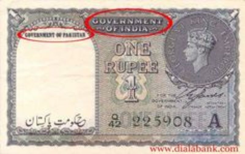 After Independence Stan Used Indian Ru Notes Stamped With Until It Could Print Enough