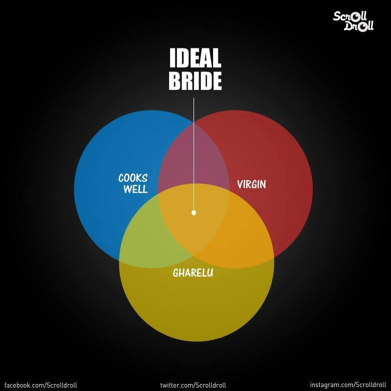 These 10 quirky venn diagrams define ideal in indian society ccuart Choice Image